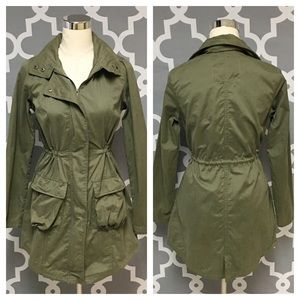 Mossimo Army Green Utility Coat 7J